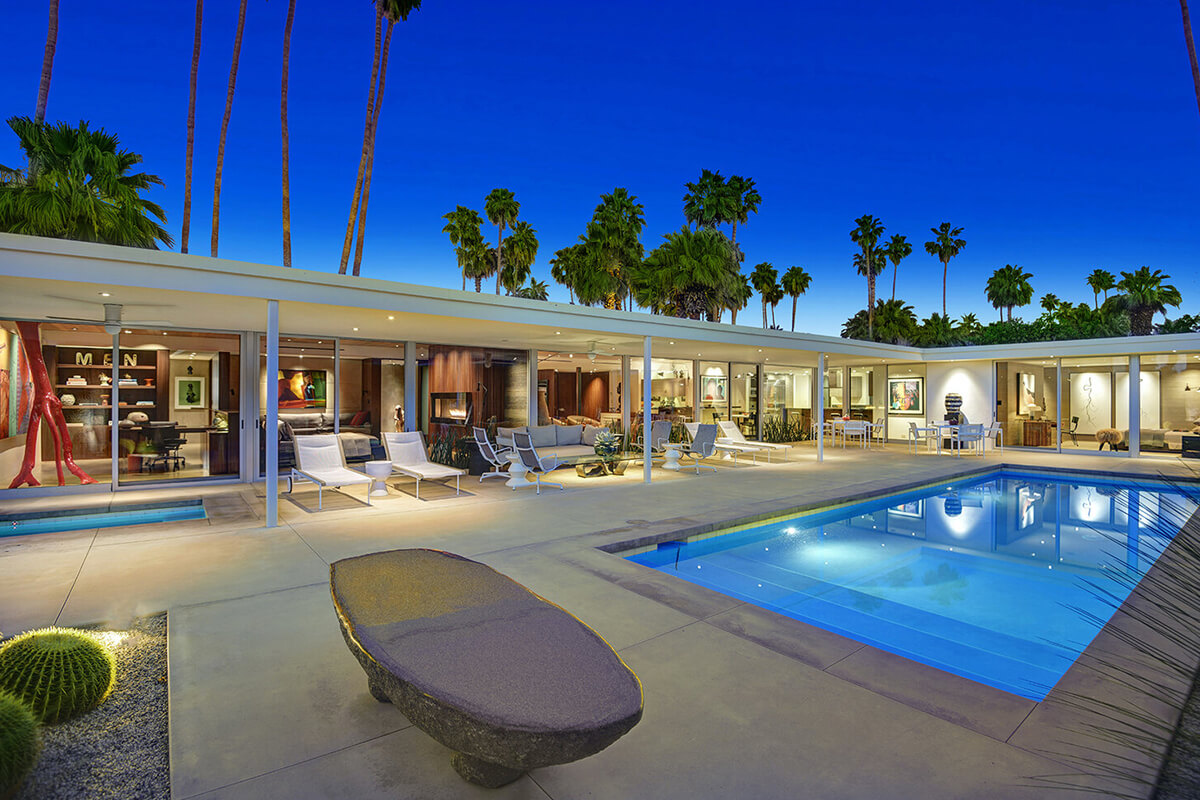 The James M. Hollowell Residence (Playboy Pad), Palm Springs, CA, USA   vacation home rentals