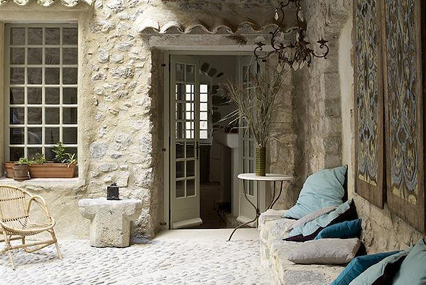 Terrace with River View, Lagrasse, Languedoc, France   vacation home rentals