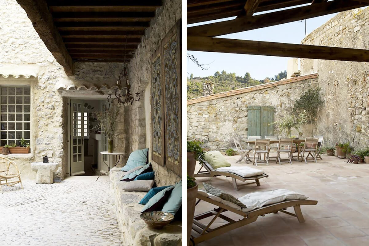 Terrace with River View - Lagrasse, Languedoc-Roussillon, France   vacation home rentals